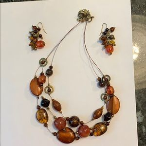 Chico's necklace and earring set.